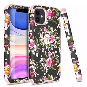 Pink Rose For iPhone 11 Pro Max/XS/XR Case Luxury